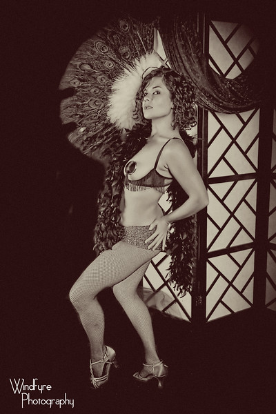 Vintage Fan Dancer
