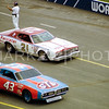 David Pearson (21) and Richard Petty 43) 1977 World 600 CMS