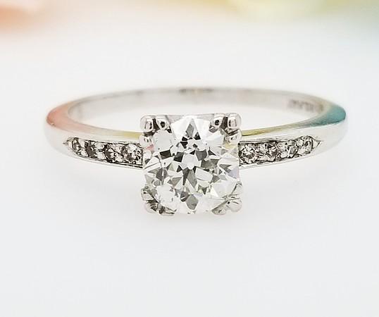 0.68ct Vintage Old European Cut Diamond Ring - GIA G, SI1