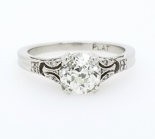 0.91ct Antique Old European Cut Diamond Ring - GIA L, VS2