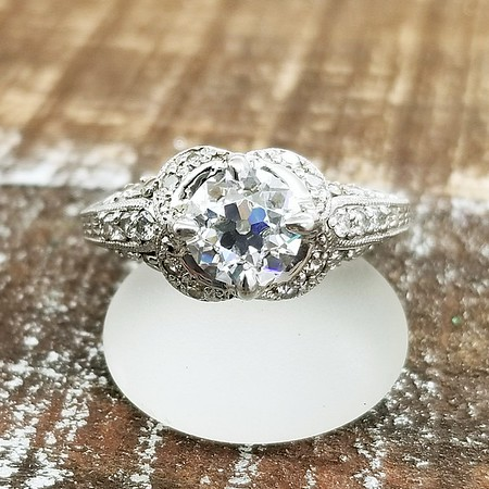 1.23ct Amora Gem in Vintage Style Solitaire
