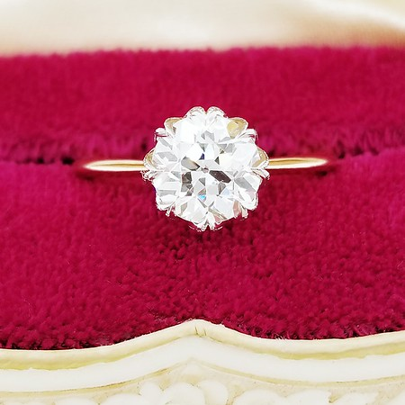 "1.36ct Old European Cut Diamond in CvB ""Dahlia"" - M, VS2 (est.)"