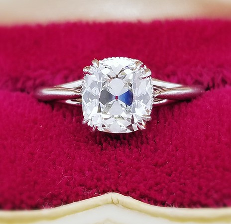 1.43ct August Vintage Cushion Solitaire - GIA G, SI1