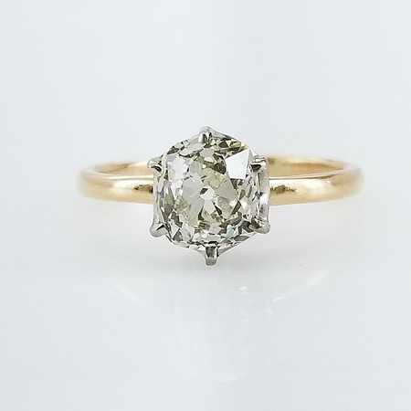 1.62ct Old Mine Cut Solitaire - AGS L, VS2