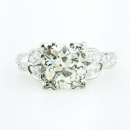 1.68ct Old European Cut Diamond Ring - AGS N, VS2