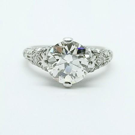 2.05ct Old European Cut Diamond Ring - GIA L, VS1
