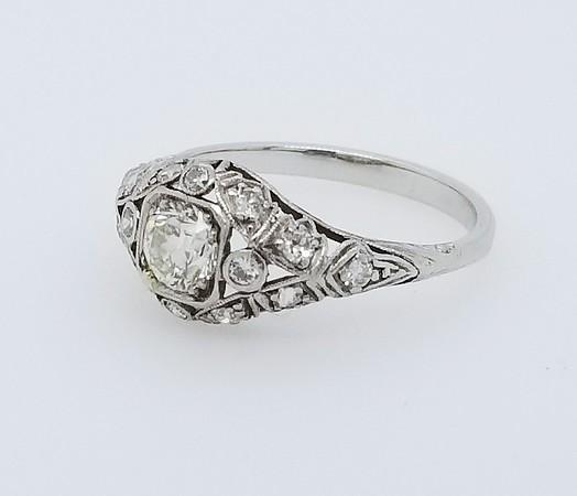 Antique Filigree OEC Diamond Ring
