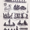 Vintage illustration of Native Cultural Games from Meyers Konversations Lexikon 1913 Encyclopedia. Antique digital download of old print - games; tradition; activity; people; kids; children; native; culture; cultural; tribe.  The natural age-toning, paper stains, and antique printing imperfections are preserved in this 1900s stock image.