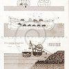 Vintage 1800s Steel Engraving Steampunk Breakwater Ship Print from from THE ENCYCLOPEDIA BRITANNICA.  The natural patina, age-toning, imperfections, and old paper antiquing of this vintage 19th century illustration are preserved in this image.
