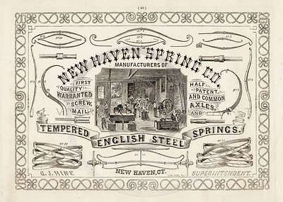 Vintage 1800s Sepia Illustration of a Hardware Company advertisement print from ILLUSTRATED CATALOGUE OF CARRIAGES.  The natural patina, age-toning, imperfections, and old paper antiquing of this vintage 19th century illustration are preserved in this image.