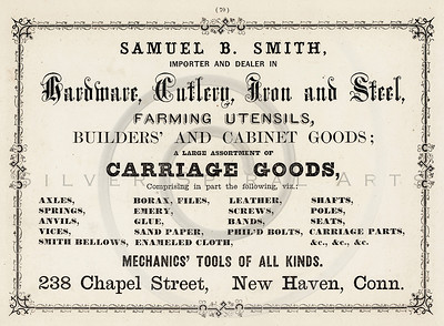 Vintage 1800s Sepia Illustration of a Store Dealer advertisement print from ILLUSTRATED CATALOGUE OF CARRIAGES.  The natural patina, age-toning, imperfections, and old paper antiquing of this vintage 19th century illustration are preserved in this image.