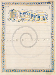 Vintage 1800s Color Illustration of a Memoranda Log  - THE HOLY BIBLE.