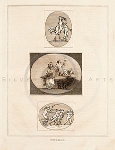 Vintage 1700s Sepia Illustration of Ancient Men - FRAGMENTS OF THE HOLY SCRIPTURES by Calmet.