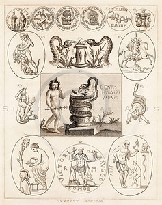 Vintage 1700s Sepia Illustration of Ancient People - FRAGMENTS OF THE HOLY SCRIPTURES by Calmet.