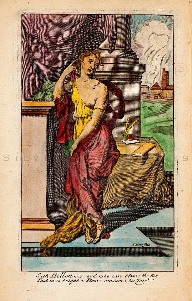 Vintage 1600s Color Illustration of Greek Gods Mythology - OVID'