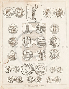Vintage 1700s Sepia Illustration of Ancient Seals - FRAGMENTS OF THE HOLY SCRIPTURES by Calmet.