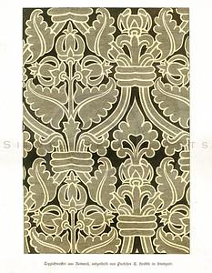 Vintage 1800s Color Design Illustration - GEWERBEHALLE ORGAN FUR DEN FORTSCHRITT by Gewerbehalle, published in Germany.