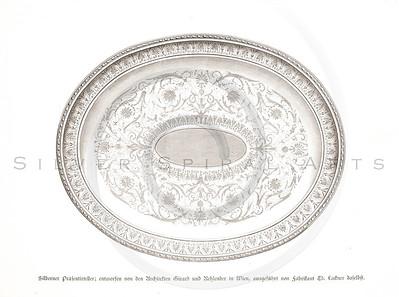 Vintage 1800s Sepia Illustration of Decorative Plate - GEWERBEHALLE ORGAN FUR DEN FORTSCHRITT by Gewerbehalle, published in Germany.