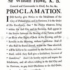 Vintage 1800s Sepia Illustration of a Philadelphia Proclamation - AMERICAN HISTORICAL & LITERARY CURIOSITIES by J.J. Smith.