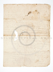 Vintage 1800s Color Illustration of an Old, Handwritten Letter.  The natural patina, age-toning, imperfections, and old paper antiquing of this vintage 19th century illustration are preserved in this image.