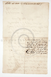 Vintage 1800s Color Illustration of an Old, Handwritten Letter.