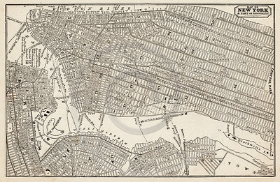 Vintage 1800s Sepia Illustration of a Map of New York print from ILLUSTRATED CATALOGUE OF CARRIAGES.  The natural patina, age-toning, imperfections, and old paper antiquing of this vintage 19th century illustration are preserved in this image.