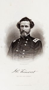 Vintage 1800s Sepia Illustration of Civil War Portrait of John C