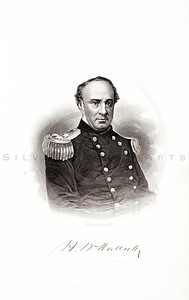 Vintage 1800s Steel Engraving Print Illustration of Henry Wager Halleck Portrait from THE HISTORY OF THE CIVIL WAR IN AMERICA by John Abott.  The natural patina, age-toning, imperfections, and old paper antiquing of this vintage 19th century illustration are preserved in this image.