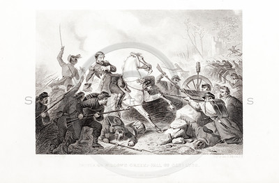 Vintage 1800s Steel Engraving Print Illustration of the Battle o