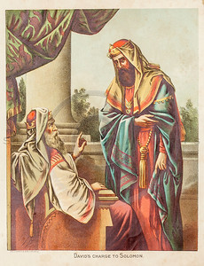 Vintage 1800s Color Illustration from THE HOLY BIBLE.
