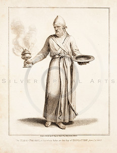 Vintage 1700s Sepia Illustration of Priest - FRAGMENTS OF THE HO