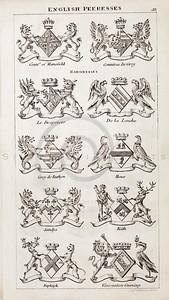 Vintage 1800s Sepia Copper Engraving Illustration of British Pee
