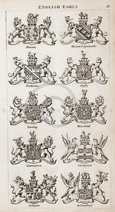 Vintage 1800s Sepia Copper Engraving Illustration of British Ear