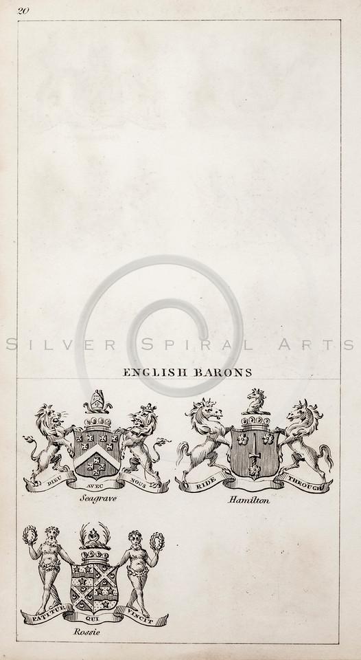 Vintage 1800s Sepia Copper Engraving Illustration of British Bar