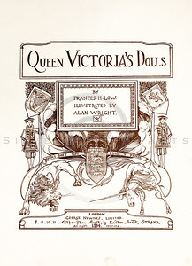Vintage 1800s Sepia Illustration of a Page from QUEEN VICTORIA'S DOLLS by Francis Low.