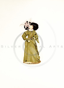 Vintage 1800s Color Illustration of a Victorian Doll - QUEEN VICTORIA'S DOLLS by Francis Low.