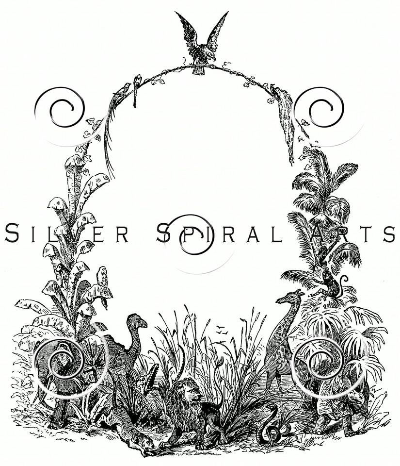 Vintage Animals Frame Illustration - 1800s Animal Frames Images