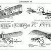 Vintage illustration of Planes from Meyers Konversations Lexikon 1913 Encyclopedia. Antique digital download of old print - plane; planes; biplane, aircraft; fly; flying; airplane; mechanical; machine; machinery; steampunk.  The natural age-toning, paper stains, and antique printing imperfections are preserved in this 1900s stock image.