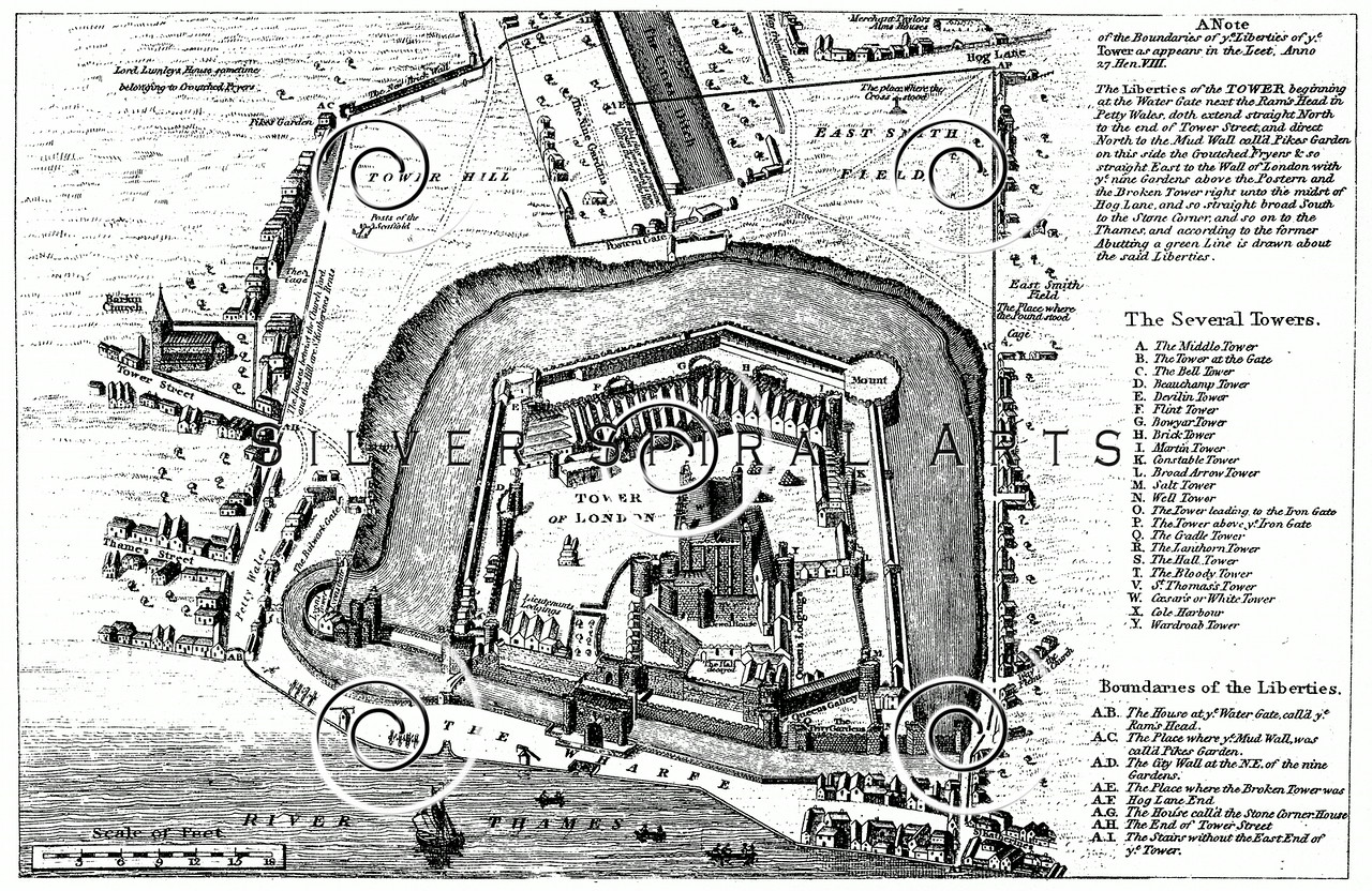 Royalty free stock vintage illustrations photo keywords layout vintage 1800s photo etching illustration of a plan of the tower of london from memoirs malvernweather Image collections