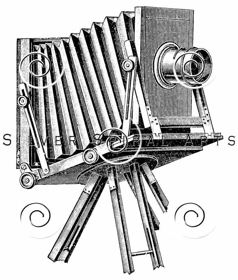 Vintage Camera Illustration - 1800s Cameras Images.