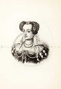 Vintage 1800s Photo-Etching Sepia Illustration of Marguerite de