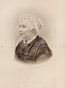 Vintage illustration of Elizabeth Cady Stanton Portrait from Emi