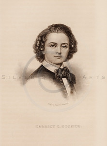 Vintage illustration of Harriet Hosmer Portrait from Eminent Women of the Age by Horace Greeley, 1869.  The natural age-toning, paper stains, and antique printing imperfections are preserved in this 1800s vintage stock image.