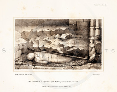 Vintage 1800s Sepia Illustration of a Mummy - MISCELLANEOUS TRAC
