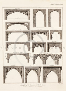 Vintage 1800s Sepia Illustration of Antique Archway Architectures - MISCELLANEOUS TRACTS RELATING TO ANTIQUITY by Society of Antiquaries in London.