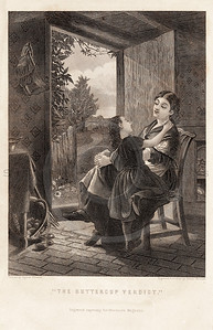 Vintage 1800s Sepia Illustration of Victorian Woman with Child - GODEY'S, PETERSON'S ETC.