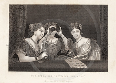 Vintage 1800s Sepia Illustration of Victorian Women - GODEY'S, PETERSON'S ETC.
