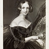 Vintage 1800s Portrait Illustration- Steel engraving from  HEATH'S BOOK OF BEAUTY by The Countess of Blessington in London England in 1844