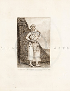 Vintage 1700s Sepia Illustration of Man in Robe - FRAGMENTS OF THE HOLY SCRIPTURES by Calmet.