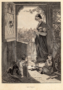 Vintage 1800s Sepia Fashion Illustration of Victorian Woman and Children - GODEY'S & PETERSON'S LADY'S MAGAZINES.